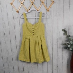 Charlotte Russe Green Textured Sun Dress